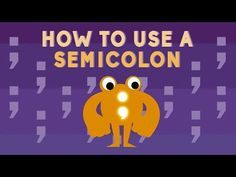 Finally! An Easy Way To Know When (And How) To Use A Semicolon! – Crafty House