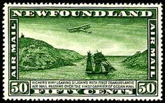 Great Stamps from Newfoundland... was a self governing British colony until 1949 when it joined Canada as a province.  http://en.wikipedia.org/wiki/Dominion_of_Newfoundland