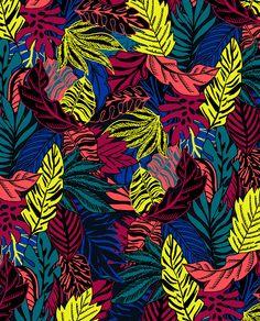 Neon Tropical Leafs by Marisa Hopkins | marisahopkins.com