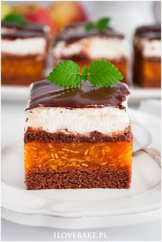 Ciasto kilimandżaro - I Love Bake Fancy Dishes, Oreo, Kolaci I Torte, Best Food Ever, Polish Recipes, Homemade Cakes, Chocolate Desserts, Cheesecake, Cookie Recipes