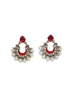 DELHI DIVA CRESCENTS by designer Sobayha Accessories from sobayha.com. Gorgeous coloured teardrop stud with a coloured crescent, finished with large pearl edging in a gold brushed frame. Available in: Purple, Pink, Blue & White. See more at: https://www.sobayha.com/catalogue/delhi-diva-crescents_146/