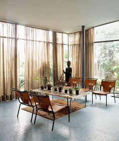 all windows with curtains