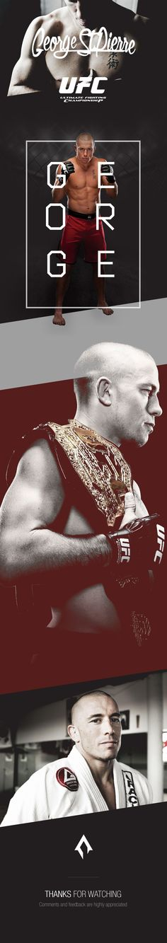 UFC   George St-Pierre :: A presentation for the UFC fighter George St-Pierre