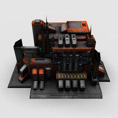 5 sci fi city buildings max