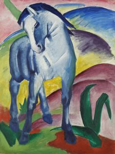 Franz Marc Blue Horse painting is shipped worldwide,including stretched canvas and framed art.This Franz Marc Blue Horse painting is available at custom size. Franz Marc, Painted Horses, Blue Rider, Painting Prints, Art Prints, Painting Art, Blue Horse, Ouvrages D'art, Oil Painting Reproductions