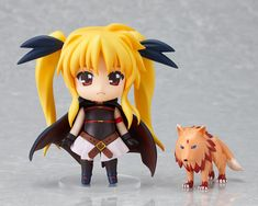 Magical Girl Nanoha  with her pet. #MagicalGirlNanoha #Nendoroid