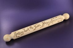 Personalised wooden rolling pin Bake Off, hand pyrographed with your own message by CoveCalligraphy