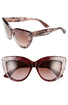 756516ed335 Free shipping and returns on Valentino  Lace  53mm Cat Eye Sunglasses at  Nordstrom.