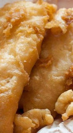 What makes this recipe unique, is that the fish is crispy, but it isn't done with a beer batter. Club soda is the key ingredient that makes this batter extra special. Long John Silvers Fish Batter recipe is perfect for fish, and so much Fish Dishes, Seafood Dishes, Seafood Recipes, Recipes Dinner, Seafood Platter, Dinner Ideas, Fried Fish Recipes, Salmon Recipes, Best Fried Fish Recipe