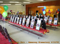 school art show display ideas | Hemenway Elementary School's cafeteria was turned into an ArtGallery!