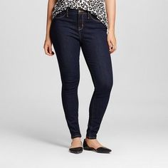 Mossimo Women's Mid-rise Jeggings (Curvy Fit) Rinse Wash - Mossimo