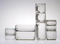 Kubus (stacking containers) / Wilhelm Wagenfeld / Vereinigte Lausitzer Glaswerke (Weißwasser) / 1938
