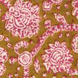John Robshaw Textiles - Poppy Lotus - Blockprinted Linens - Fabric