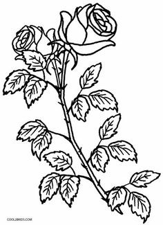 Printable Rose Coloring Pages For Kids | Cool2bKids | coloring pages ...