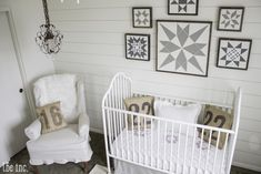Vintage-inspired Farmhouse Chic Nursery - love the gender neutral feel!