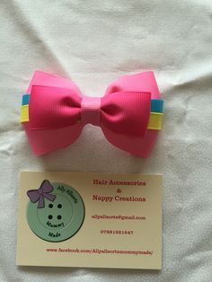 Pinkie pie inspired hair bow designed by me