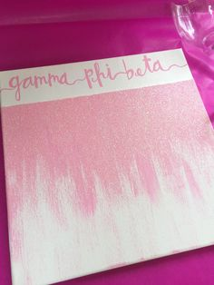 Custom Little Bid Day or Initiation Package  Gamma Phi Beta (pictured) The Little Package comes with:  - a sorority and color customized 12x12