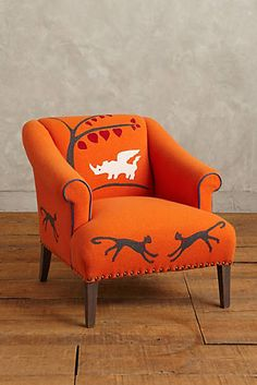 Folkthread Fauntastique Armchair. Wonder what it'd take to make something like this with another design.