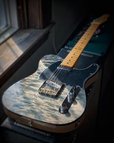 #TeleTuesday What do you think of the Blue Cloud quilt maple top on this Fender Rarities Telecaster? See more of this beautiful instrument with our 360 photos at elderly.com.