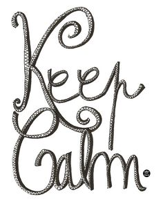 Keep Calm. Quotes.Typography Wall Art Print. by Letterandcard