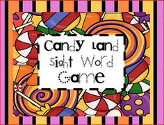 Sight Words Game - use a regular candy land game board and print out the cards on this site with sight words on them. Kids have to name the sight word on the card to make their next move.