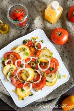 Tomaten Zucchini Salat mit mallorquinischem Orangenbalsamico