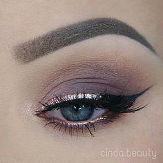 ♡ eye make-up - nudes + eyeliner Pretty Makeup, Love Makeup, Makeup Inspo, Makeup Ideas, Makeup Style, Makeup Tutorials, Makeup Tips, Glam Makeup, Metallic Eyeshadow