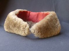 Sweet Antique Fur Collar With Red Lining by MendozamVintage, $9.99