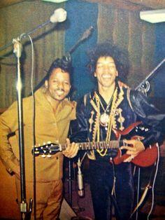 Curtis Knight and Jimi Hendrix