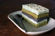 The Wandering Girl: Entremet Matcha tea and black sesame