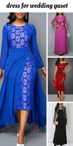 stylish gown to put on to a marriage as a visitor African Dresses For Women, African Fashion Dresses, Casual Dresses For Women, Cute Dresses, Beautiful Dresses, Dresses With Sleeves, Fashion Outfits, Stylish Gown, Club Party Dresses