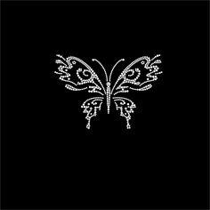 #Blingworx - #HotFix #Diamante #Butterflies Transfers iron on #motif for #tshirt bags