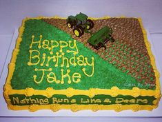 John Deere Farming Cake by Cakes By Jenna