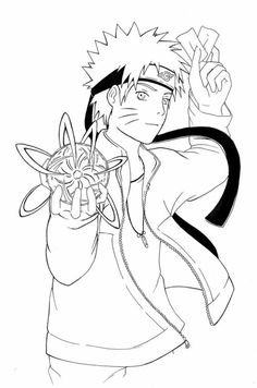 naruto coloring pages nine tailed fox Anime Pinterest Naruto