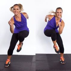 Side Shuffle Switch fast-paced move gets your heart rate up (to help blast body fat) and recruits your inner-thigh muscles to help you switch directions. Thin Thighs Workout, Inner Thigh Muscle, Thinner Thighs, Skinny Thighs, Coach Sportif, Def Not, Thigh Muscles, Knee Up, Burn Belly Fat Fast