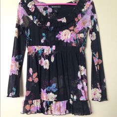 Beautiful floral top Gorgeous floral top in babydoll style. INC International Concepts Tops Blouses