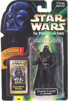 STAR WARS : Costumes and Toys : Star Wars Action Figure - Darth Vader - with Lightsaber EP1 FlashBack Photo - POTFG