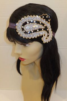 Great Gatsby Headpiece CONSTANCE Paisley by BellaCescaBoutique, $28.00