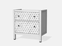 Designfolie Mediana für dein Hemnes Waschbeckenschrank 2 Schubladen