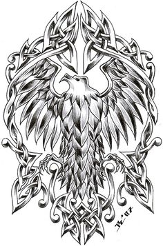 celtic eagle by *roblfc1892