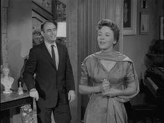 "Martin Balsam & Ida Lupino in ""The Sixteen-Millimeter Shrine""  Episode #4 (10/23/59)"
