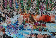 """Saatchi Art Artist Jaap de Vries; Painting, """"pixels"""" #art"""