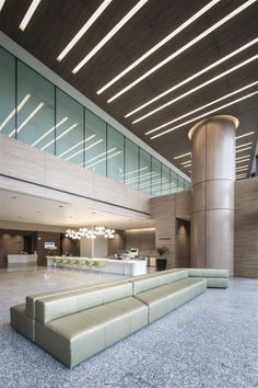 Lobby / Entrance / Ceiling design at The Farrer Park Hospital Singapore by DP Design: