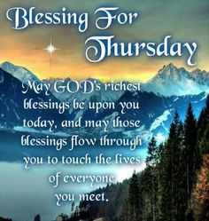 Blessings For Thursday Pictures, Photos, and Images for Facebook, Tumblr, Pinterest, and Twitter