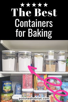 What's the best way to store flour, sugar, brown sugar and other baking ingredients? These airtight storage containers are perfect, with helpful built in features to keep your flour fresh, bug-free, and easier to use.