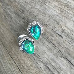 ⚠️ FLASHSALE 🆕 Statement Earrings Candy for our ears? Yes! Green/Blue gemstone hues play with the light as these beauties sit on your ear. Hypoallergenic, lead and nickel free. Ocean Jewelers Jewelry