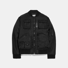 Coach x Michael B. Jordan Ma-1 jacket Nylons, Naruto, Ma 1 Jacket, Military Flights, Coach Store, Coach Men, Japanese Anime Series, Fit 30, 50 Fashion
