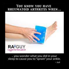 You Know You Have Rheumatoid Arthritis When... | Rheumatoid Arthritis Guy