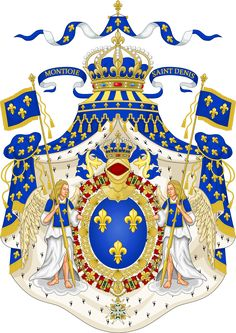 Grand Royal Coat of Arms of France - Casa de Borbón - Wikipedia, la enciclopedia libre