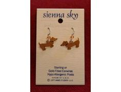 Dachshund Dangly Earrings Sienna Sky up for bid during the Furever Dachshund Rescue Auction starting Monday, November 12th. Feel free to preview. Contact fundraising@fureverdachshundrescue.org if you would like to donate an item.